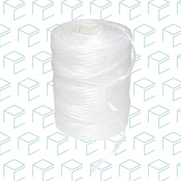White Poly Twine, 6 Pack, 500'/Roll