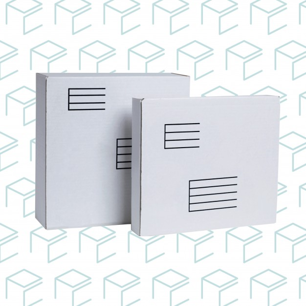 "White Mailing Boxes - 11.9"" X 10.4"" X 1.9"""