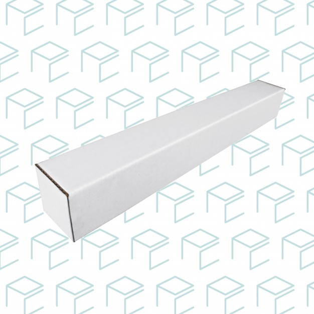 "White Square Mailing Tubes  3"" Wide"