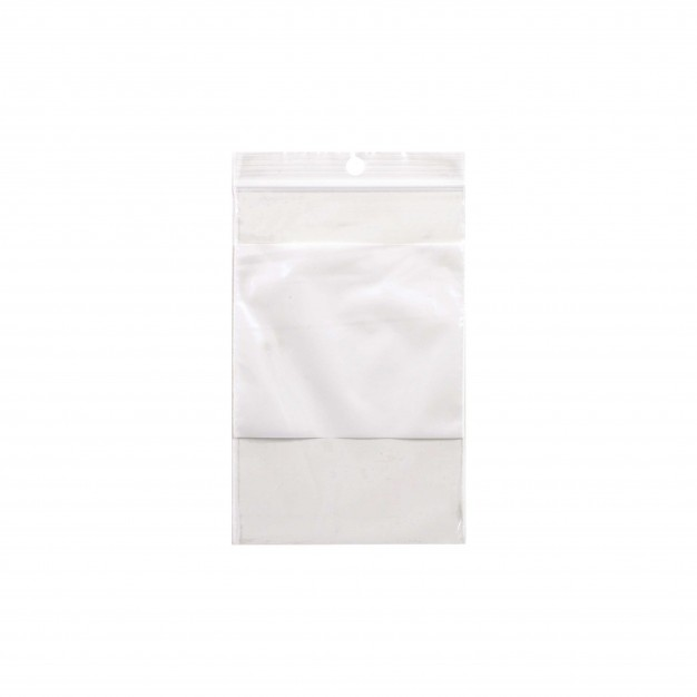Reclosable Poly Bags with White Block - 2 mil Pack of 100 - Sizes Available