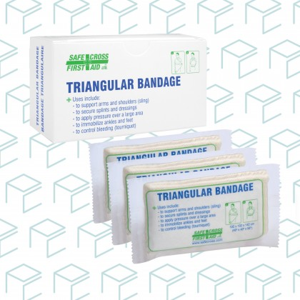 Compressed Triangular Bandage, Unitized - 3pk