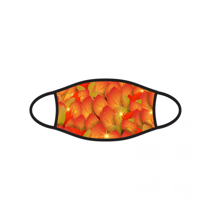 Kids Double-Ply Face Mask, Fall Leaves