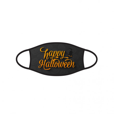 Kids Double-Ply Face Mask, Happy Halloween