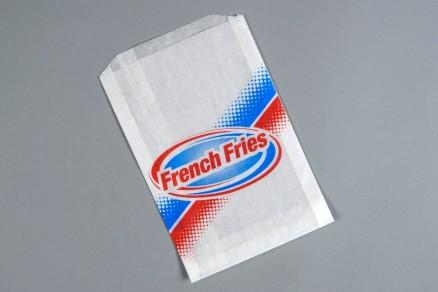 "Printed French Fry Bags, 5 1/2 x 1 x 8"" - 5 PK"