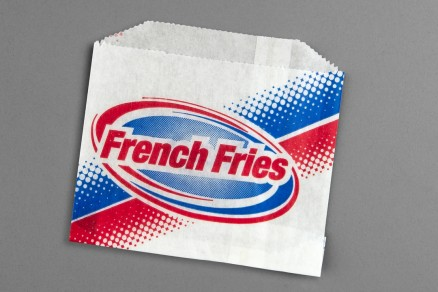 """Printed French Fry Bags, 4 7/8 x 4"""" - 1 PK"""