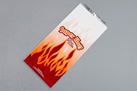 Foil 1/2 Gallon Super Hot Bags, 6 1/2 x 4 3/8 x 14""
