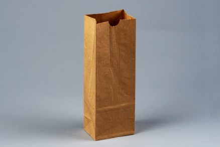 "Bakery Bags, Plain Front, 3 3/8 x 2 1/2 x 9 3/8"", Natural Kraft"