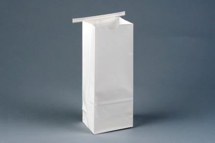 """Bakery Bags, White, Tin Tie, Plain Front, 3 3/8 x 2 1/2 x 9 3/8"""""""