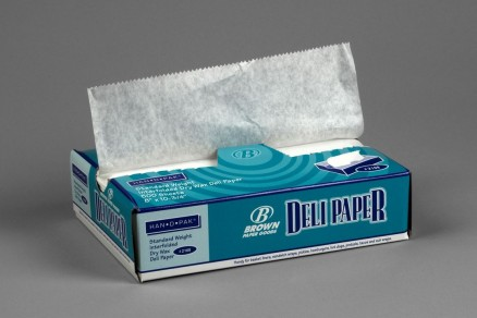 Waxed Deli Tissue Sheets, 8 x 10 3/4""