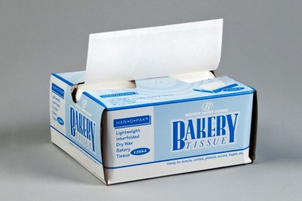 Waxed Bakery Pick-Up Tissue Sheets, White, 6 x 10 3/4""