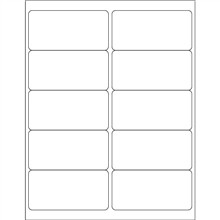 """Opaque White Blockout Laser Labels, 4 x 2"""""""