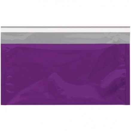 "Glamour Mailers, Flat, Metallic Purple, 6 1/4 x 10 1/4"""