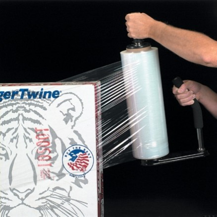 "Blown Hand Stretch Film, 90 Gauge, 12"" x 1500"