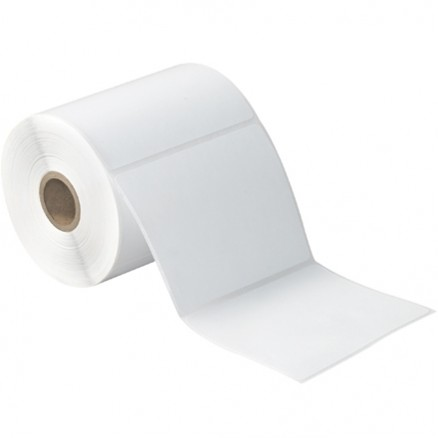 White Desktop Direct Thermal Labels, 4 x 4""