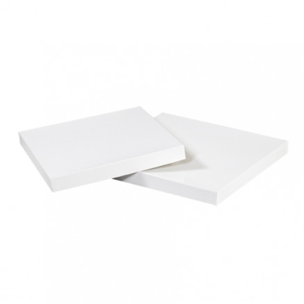 """Chipboard Gift Boxes, Lid, Deluxe, White, 4 x 4"""""""
