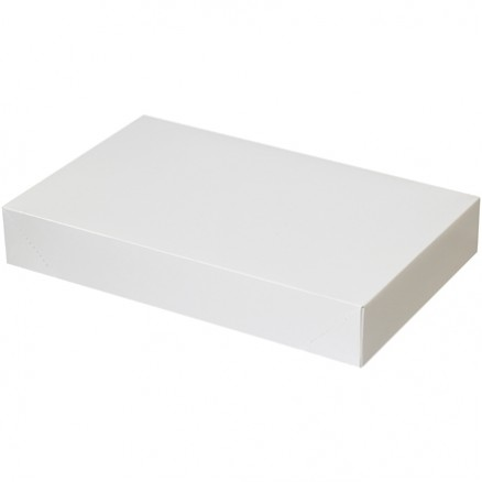 "Chipboard Boxes, Apparel, White, 19 x 12 x 3"""