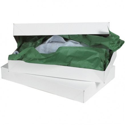 Chipboard Boxes, Apparel, White, 11 1/2 x 8 1/2 x 1 5/8""