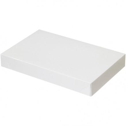 "Chipboard Boxes, Apparel, White, 15 x 9 1/2 x 2"""