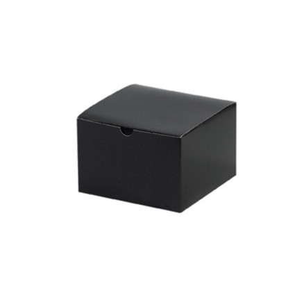 Chipboard Gift Boxes, Gloss, Black, 6 x 6 x 4""