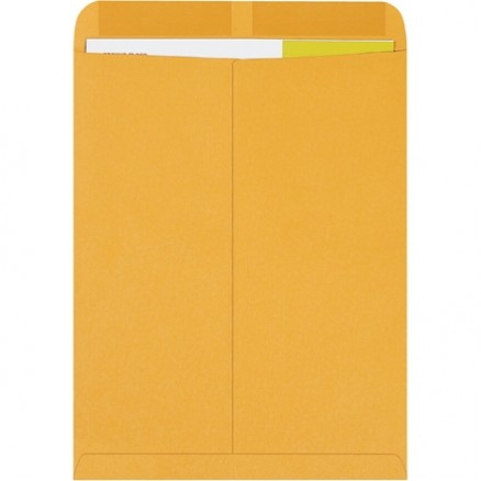 Gummed Envelopes, Kraft, 12 x 15 1/2""