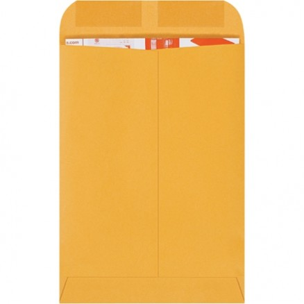Gummed Envelopes, Kraft, 7 1/2 x 10 1/2""