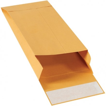 Expandable Self-Seal Envelopes, Kraft, 5 x 11 x 2""