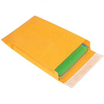 "Expandable Self-Seal Envelopes, Kraft, 10 x 13 x 2"""