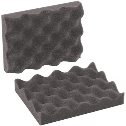 "Charcoal Convoluted Foam Sets - 8 x 6 x 2"" , 2 Sheets Per Set"