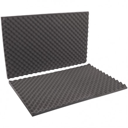 "Charcoal Convoluted Foam Sets - 24 x 36 x 2"" , 2 Sheets Per Set"