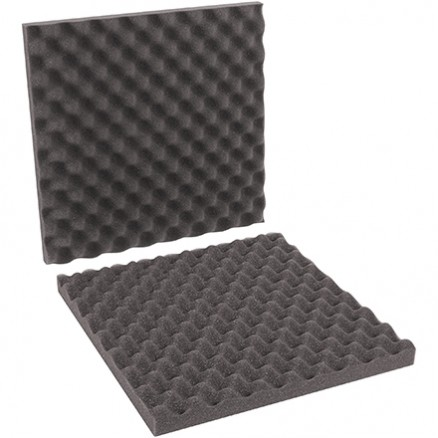 "Charcoal Convoluted Foam Sets - 16 x 16 x 2"" , 2 Sheets Per Set"