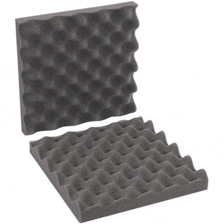 "Charcoal Convoluted Foam Sets - 10 x 10 x 2"" , 2 Sheets Per Set"