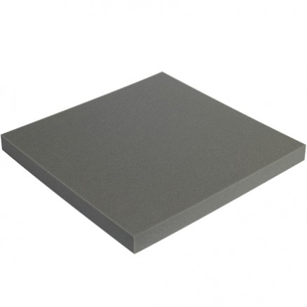 "Charcoal Soft Foam Sheets - 2"" Thick, 24 x 24"""