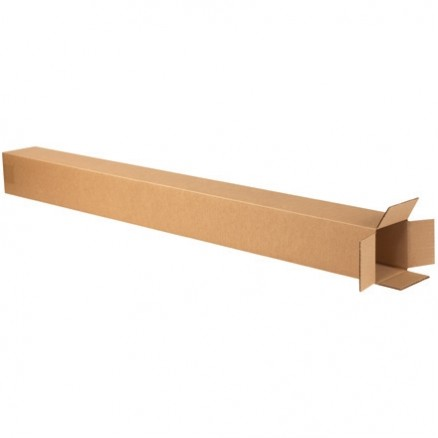 "Corrugated Boxes, 4 x 4 x 46"", Kraft"