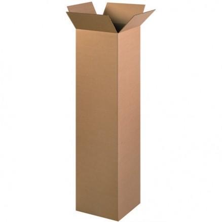"Corrugated Boxes, 12 x 12 x 52"", Kraft"