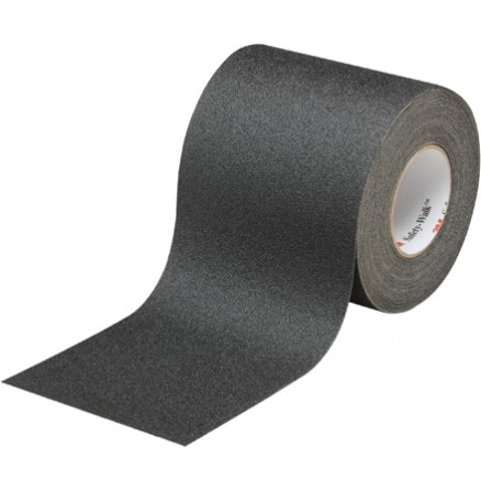 "Black 3M 610 Safety-Walk™ Tape, 6"" x 60 yds."