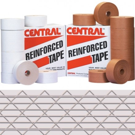 "White Central® Industrial Water Activated Kraft Sealing Tape, 3"" x 450"