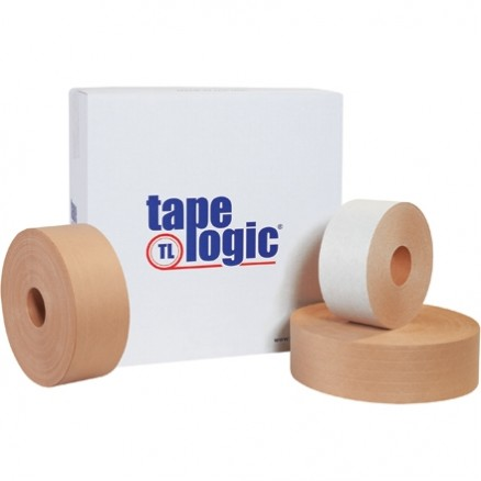 "Industrial Water Activated Kraft Sealing Tape, 3"" x 375"