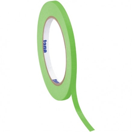 "Light Green Masking Tape, 1/4"" x 60 yds., 4.9 Mil Thick"