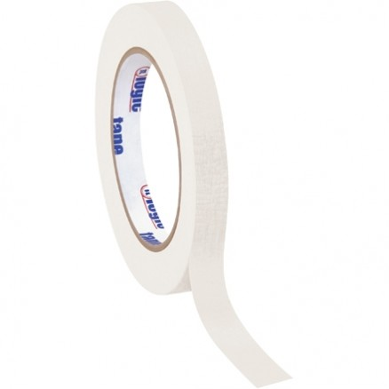 "White Masking Tape, 1/2"" x 60 yds., 4.9 Mil Thick"