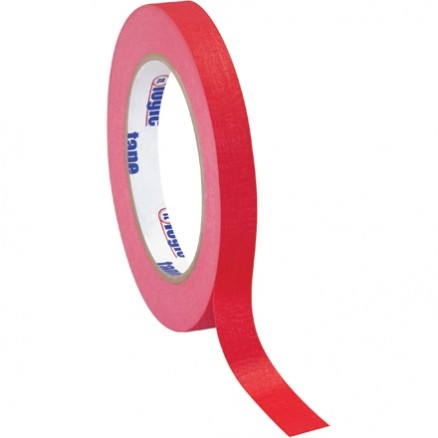 "Red Masking Tape, 1/2"" x 60 yds., 4.9 Mil Thick"