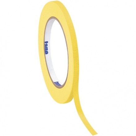 "Yellow Masking Tape, 1/4"" x 60 yds., 4.9 Mil Thick"
