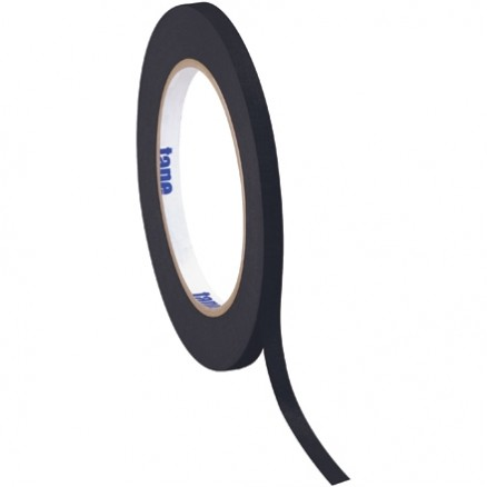 "Black Masking Tape, 1/4"" x 60 yds., 4.9 Mil Thick"