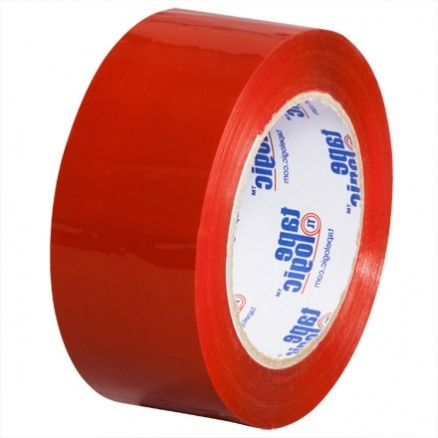 "Red Carton Sealing Tape, 2"" x 110 yds., 2.2 Mil Thick"