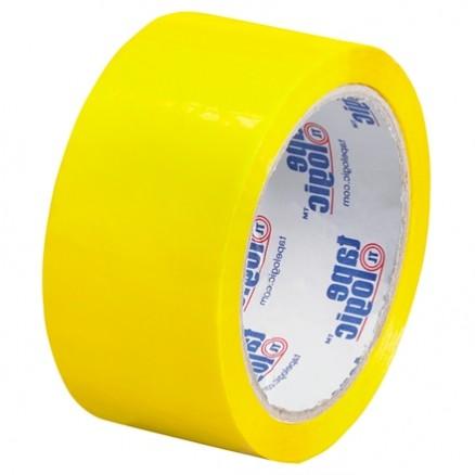 "Yellow Carton Sealing Tape, 2"" x 55 yds., 2.2 Mil Thick"