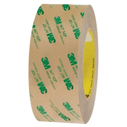 "3M 467MP High Performance Adhesive Transfer Tape, 2"" x 60 yds., 2 Mil Thick"