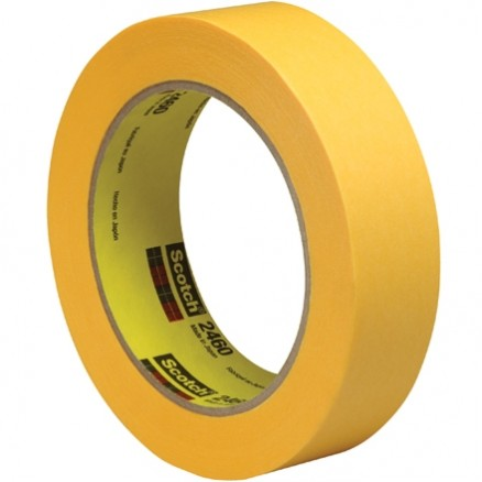 "3M 2460 Gold Flatback Masking Tape, 1"" x 60 yds., 3.3 Mil Thick"