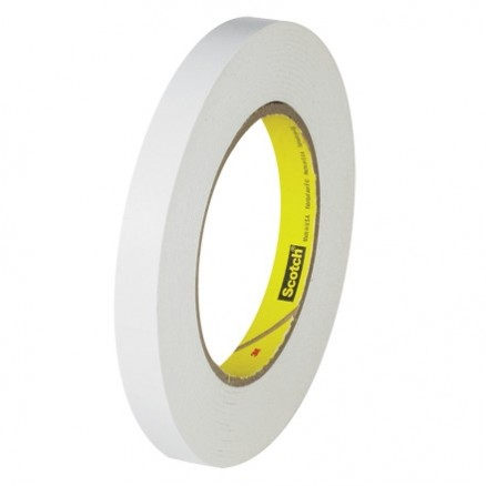 "3M 256 White Flatback Masking Tape, 1/2"" x 60 yds., 6.7 Mil Thick"