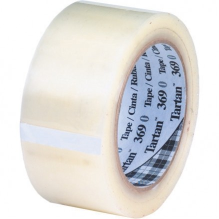 "3M 369 Tape, Clear, 2"" x 110 yds., 1.6 Mil Thick"