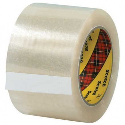 "3M 311 Tape, Clear, 3"" x 110 yds., 2 Mil Thick"