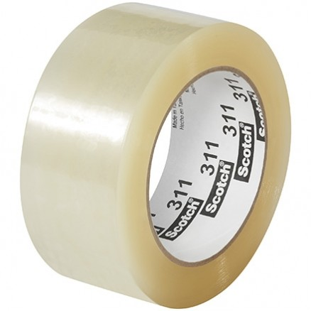 "3M 311 Tape, Clear, 2"" x 110 yds., 2 Mil Thick"